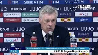 Bologna-Napoli 3-2, Carlo Ancelotti in conferenza stampa post-partita