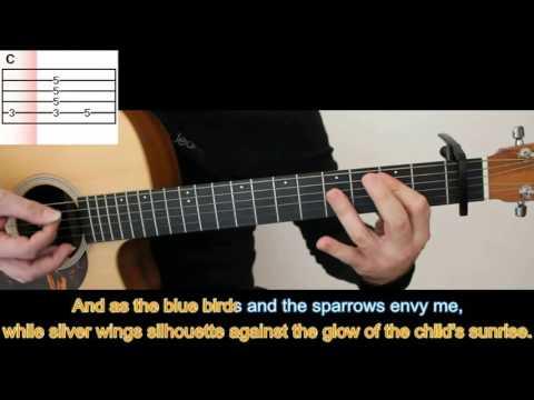 Angel by Jimi Hendrix ( Acoustic Version ) - Guitar Tutorial - Karaoke