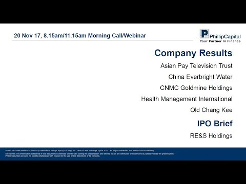 Market Outlook: Company Results and RE&S IPO Note
