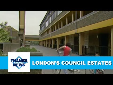 London's Council Estates during the 1980s/90s | Thames News Archive Footage