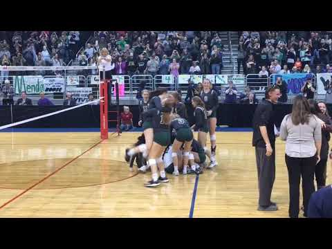 Mendon's championship-winning point vs. Leland in the MHSAA Division 4 state finals
