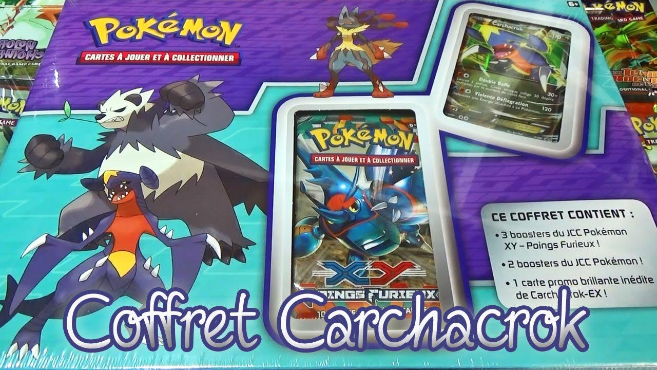 ouverture dun incroyable coffret pokmon carchacrok ex le coffret de ma vie youtube - Pokemon Carchacrok