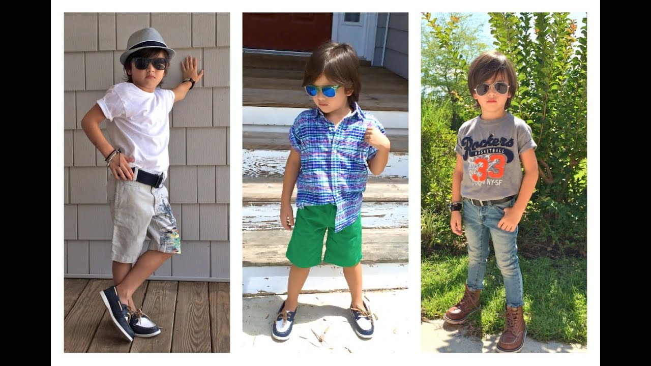 69c7205fec21 Boy s summer Outfit for Kids Children toddler Lookbook ...