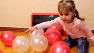 лопаємо кульки і вчимо цифри, лопаем шарики и учим цифры