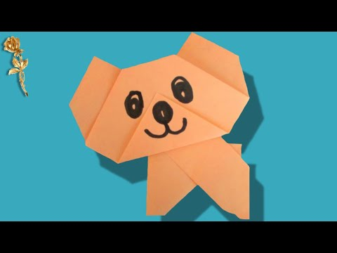 Origami Facile Ourson Youtube