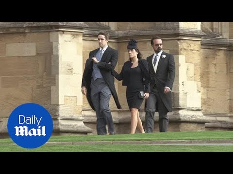 Media tycoon Evgeny Lebedev arrives at Princess Eugenie's wedding