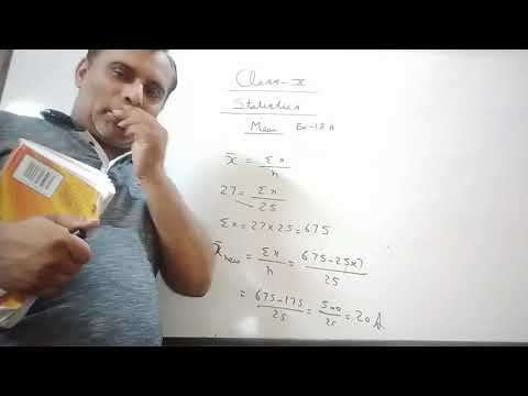 1 Statistics Of Class X By Ravi Taneja Of Ex 18A.1