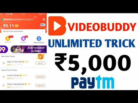 Video Buddy Rs95000 Vcoin Trick 2019🔥  Hack Voins In Video Buddy app    live Payment proof  