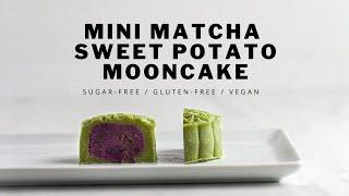 Mini Matcha Sweet Potato Mooncake  ASMR  Sugar-free  Gluten-free  Vegan