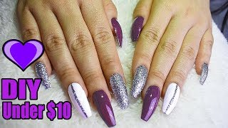 Diy super cheap easy and cute nails at home for beginners no diy fake nails at home under no acrylic easy nail hack solutioingenieria Choice Image
