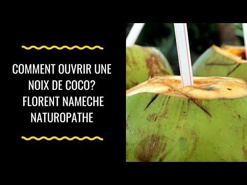 Comment ouvrir une noix de coco,  how to open a coconut Florent Nameche Naturopathe