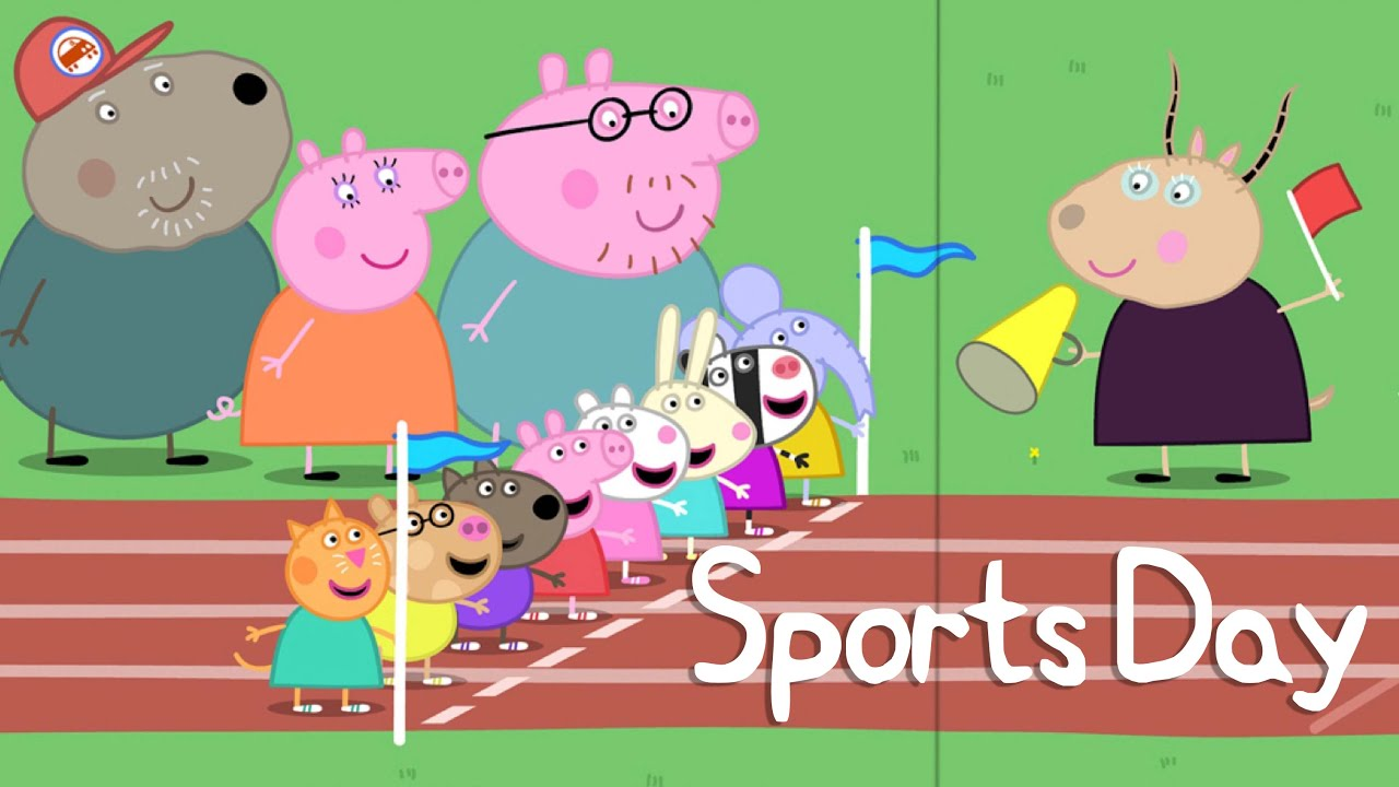 peppa pig story sports day youtube free peppa pig clips Peppa Pig 3rd Birthday Clip Art Free