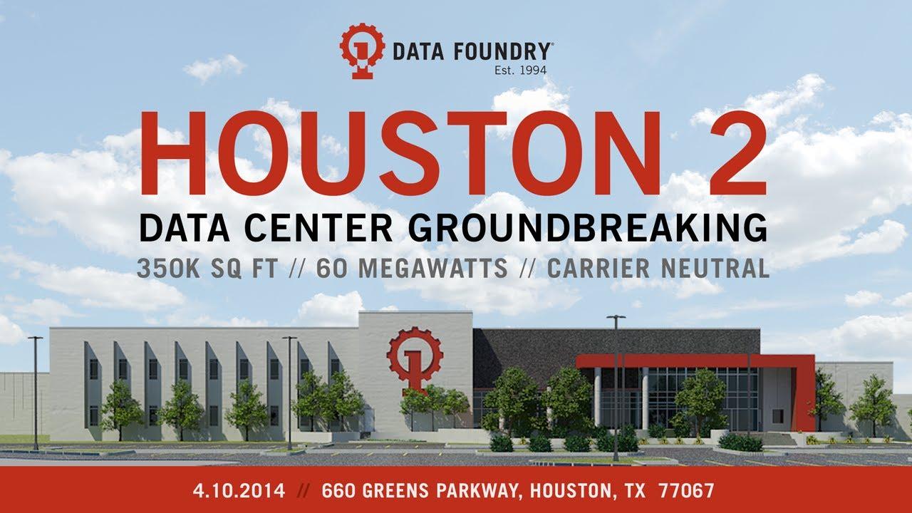 Data Foundry Houston 2 Data Center Groundbreaking - YouTube