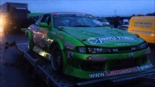 Danielle Murphy takes a fun day out in The Green Monster Drift Car