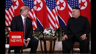 Donald Trump and Kim Jong-un meet in Vietnam - BBC News