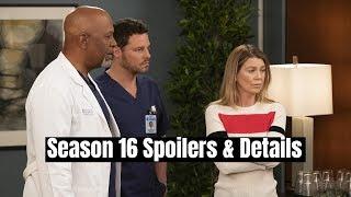 Grey39s Anatomy Season 16 Spoilers amp Details