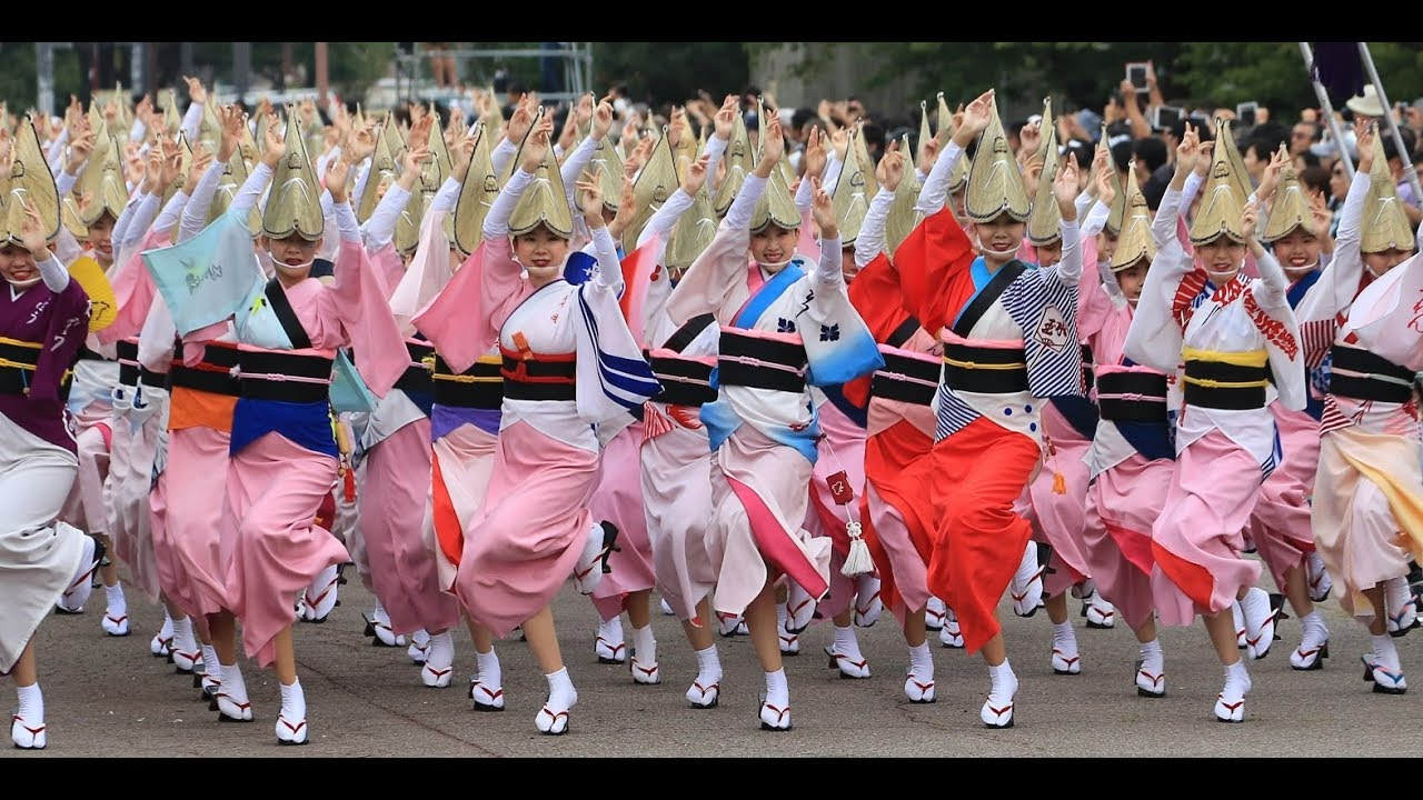 徳島・阿波おどり「平成最後の総踊り」 - YouTube