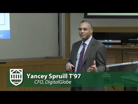 Yancey Spruill T'97 from DigitalGlobe, Discusses Satellite Imagery and Cloud Computing