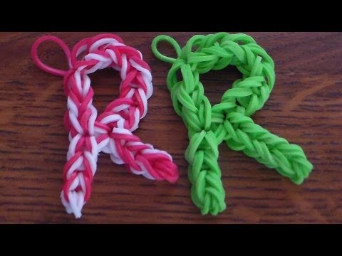 Como Hacer La  Letra (R) con Gomitas// How to make the letter (R) without the Rainbow Loom