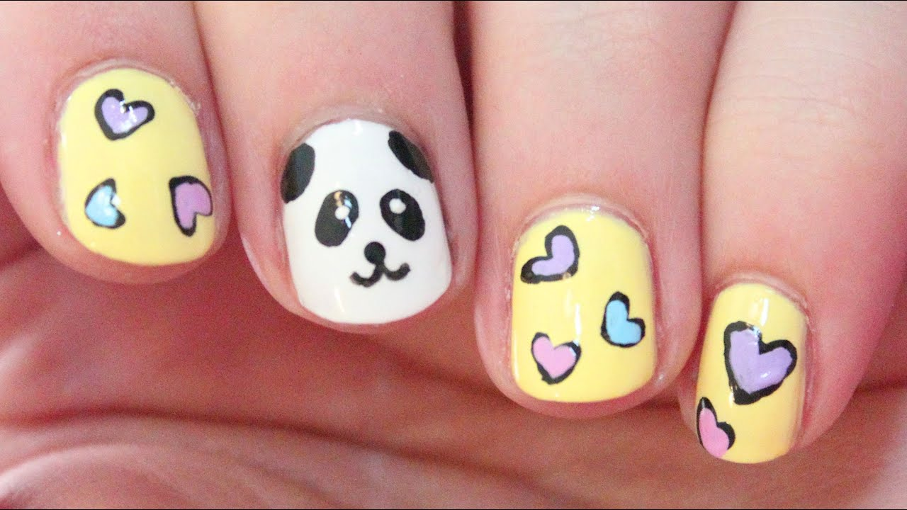 Panda nail art totallycoolnails youtube prinsesfo Image collections
