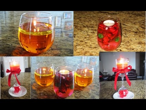 Diy floating candles from water and oil candle - Candle centerpieces for home ...