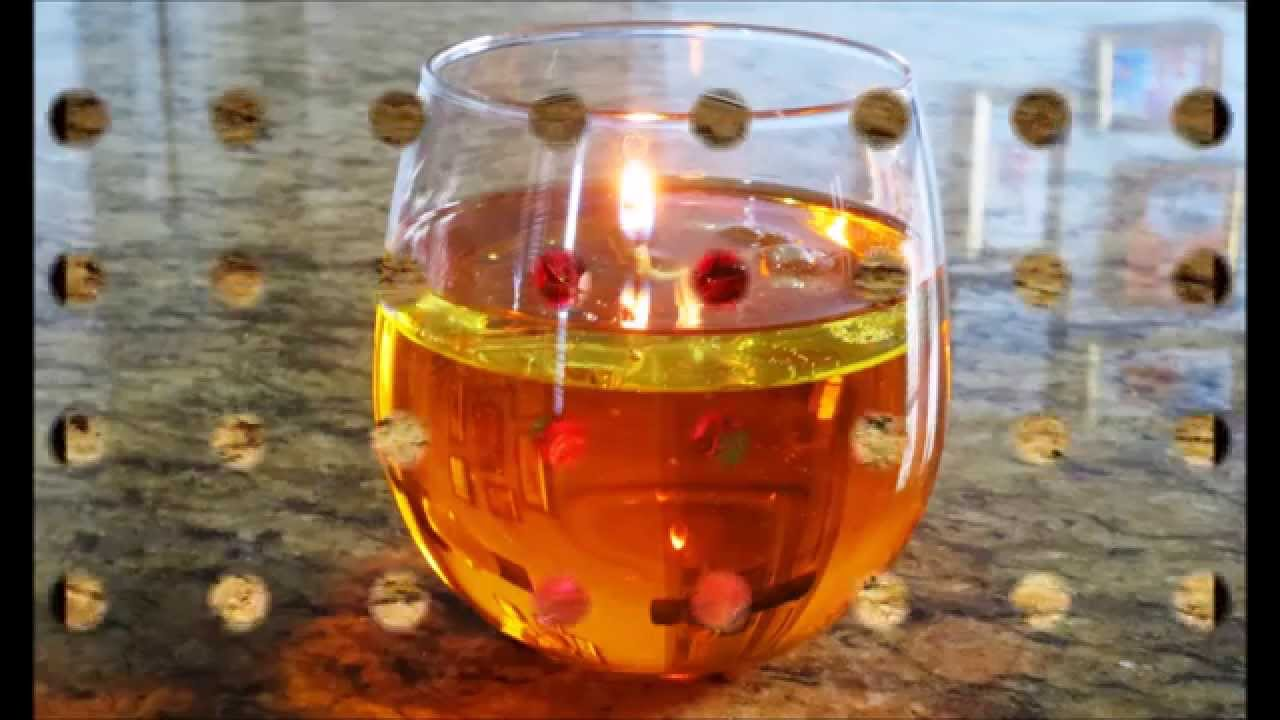 diy floating candles from water and oil candle centerpieces spring decor youtube