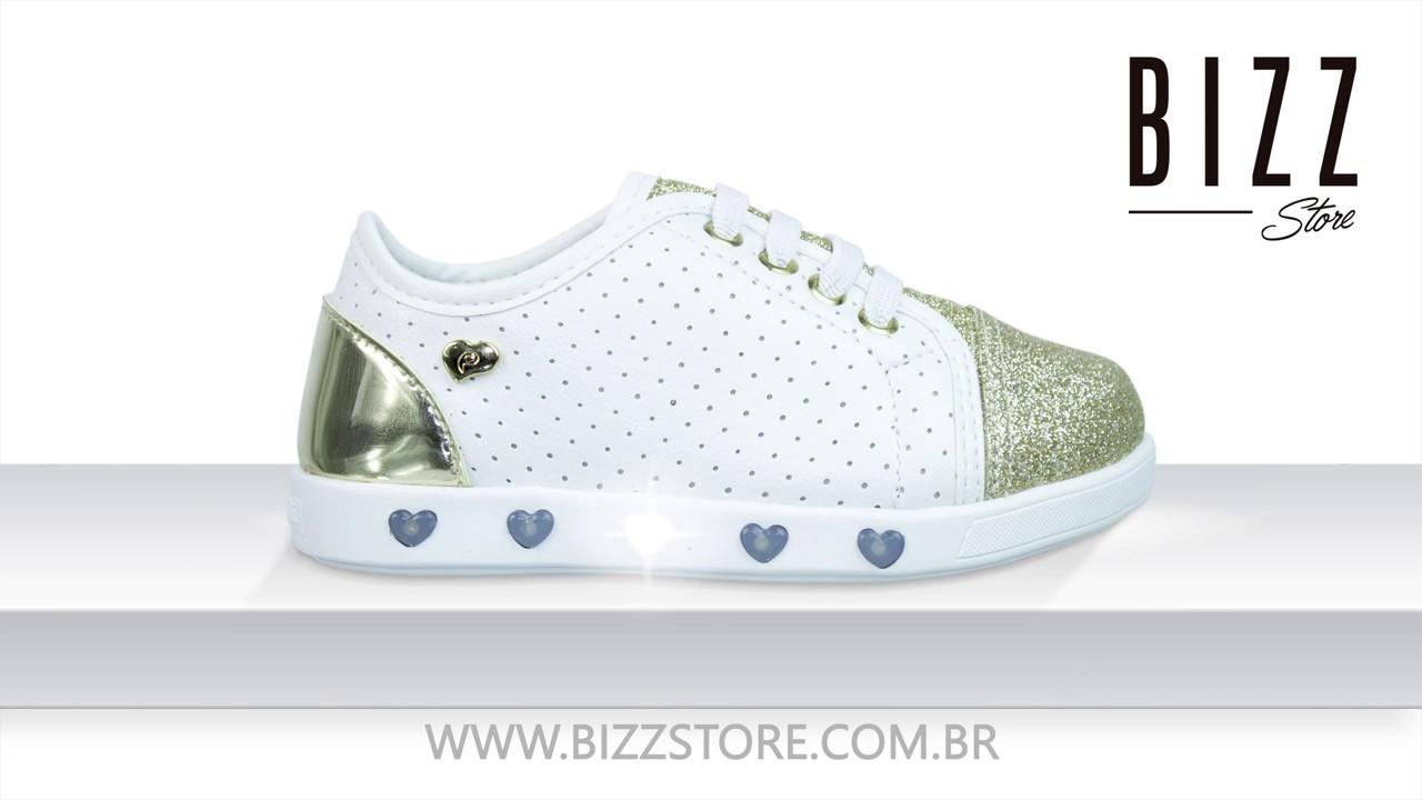 fc6f4a29e Tênis Infantil Menina Pampili Sneaker Com Luzinha Led 165.004. Bizz Store