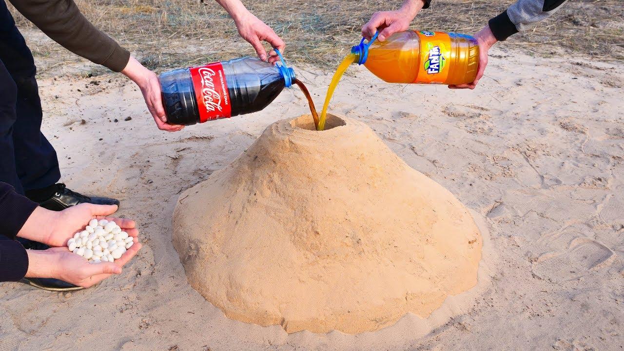 Download Volcano eruption! Cola and Fanta plus Mentos