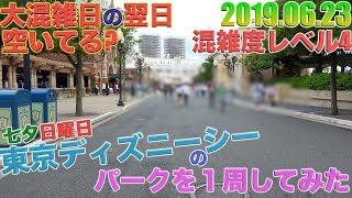 【土曜日よりは空いてる?】七夕日曜日の東京ディズニーシーのパークを1周してみた。