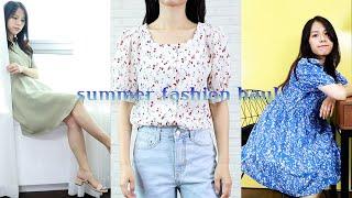 여름 패션 하울 ⛱ | 편하고 예쁜 여름 샌들 ,  샤…
