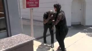 Kanye West walks into a pole... LMFAO