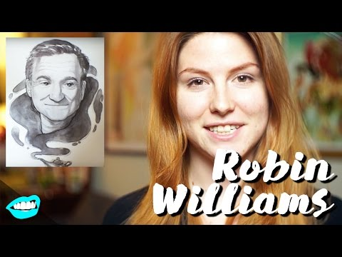 Drawing Robin Williams // Rad Portraits with Beth Be Rad #19   Snarled  