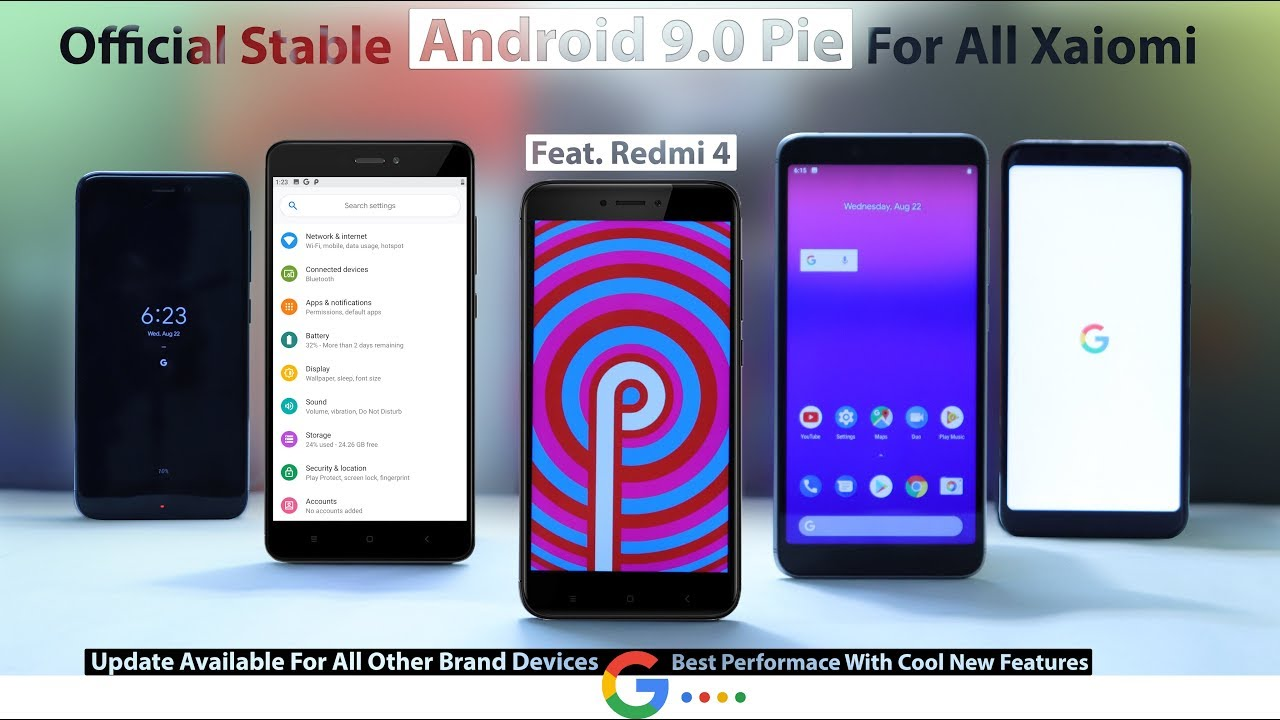 Redmi 4 - Android 9 0 PIE Official Stable Update For Any Xiaomi Or Other  Brand Devices Installation