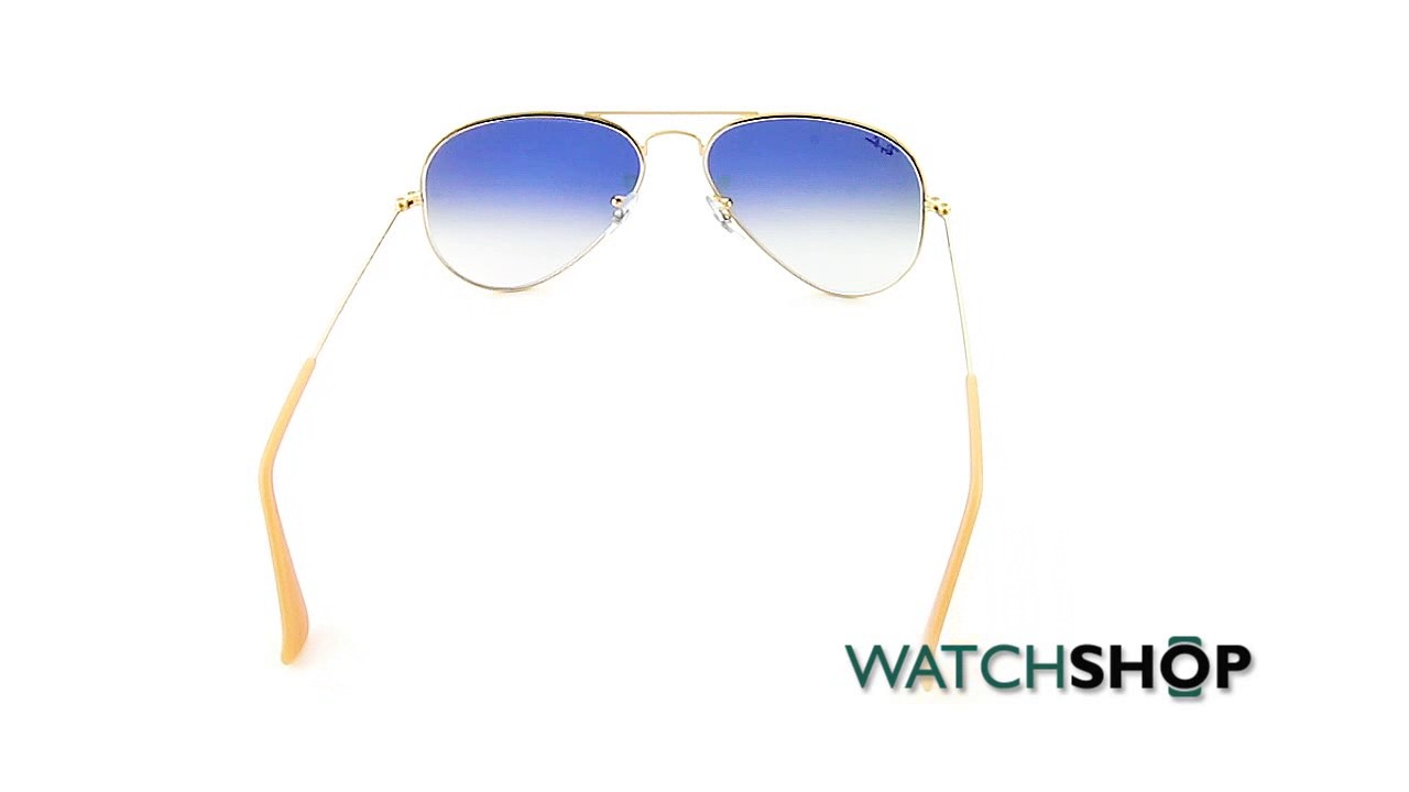 91808ad47ef Ray-Ban Men s Aviator Gradient Sunglasses (RB3025-001 3F-55)