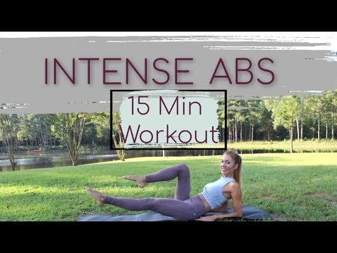 INTENSE (15 Minute) AB Workout   At-Home   No-Equipment