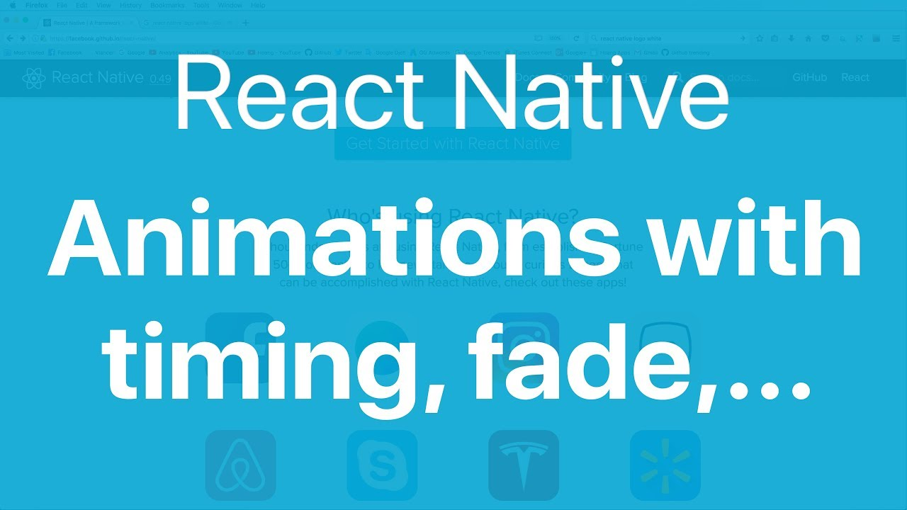 66-React Native Animations#1  Create animations for Image and View with  timing, spring, fade