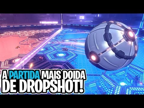 A PARTIDA MAIS DOIDA DE DROPSHOT! COM RUMBLE, MUTATORS, EXPLOSÃO, ETC! - Rocket League