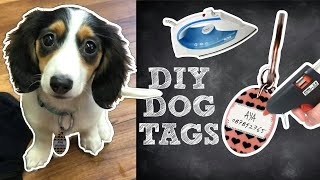 HOW TO MAKE A DOG COLLAR NAME TAG WITH HOT GLUE | DIY PET HACKS | DIY DOG ACCESSORIES