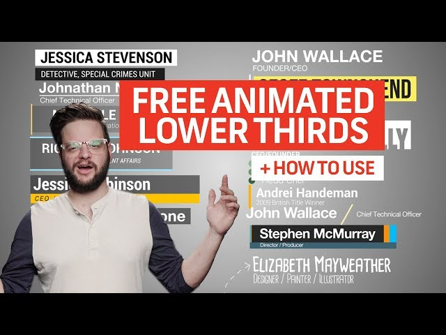 15 FREE Animated Lower Thirds Templates For Premiere