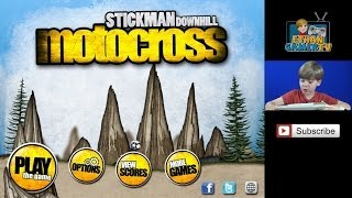 Stickman Downhill Motocross - Let's Play Mobile Games!