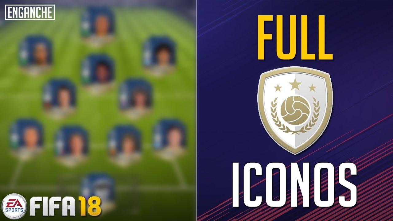 La Mejor Plantilla FULL ICONOS de FIFA 18 - YouTube