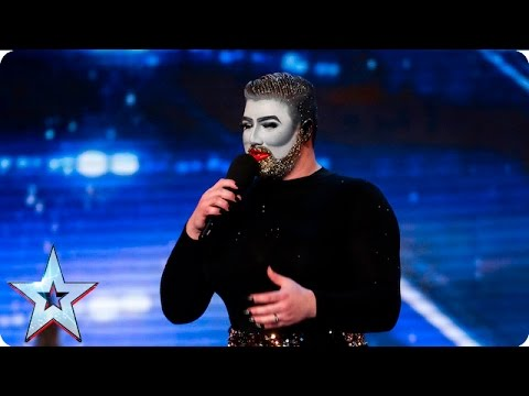 Danny Beard is all that glitters and more! | Auditions Week 7 | Britain's Got Talent 2016