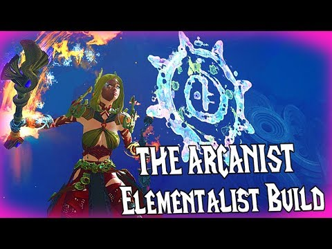 "Guild Wars 2 - ""The Arcanist"" Hybrid Elementalist l Build & Gameplay thumbnail"