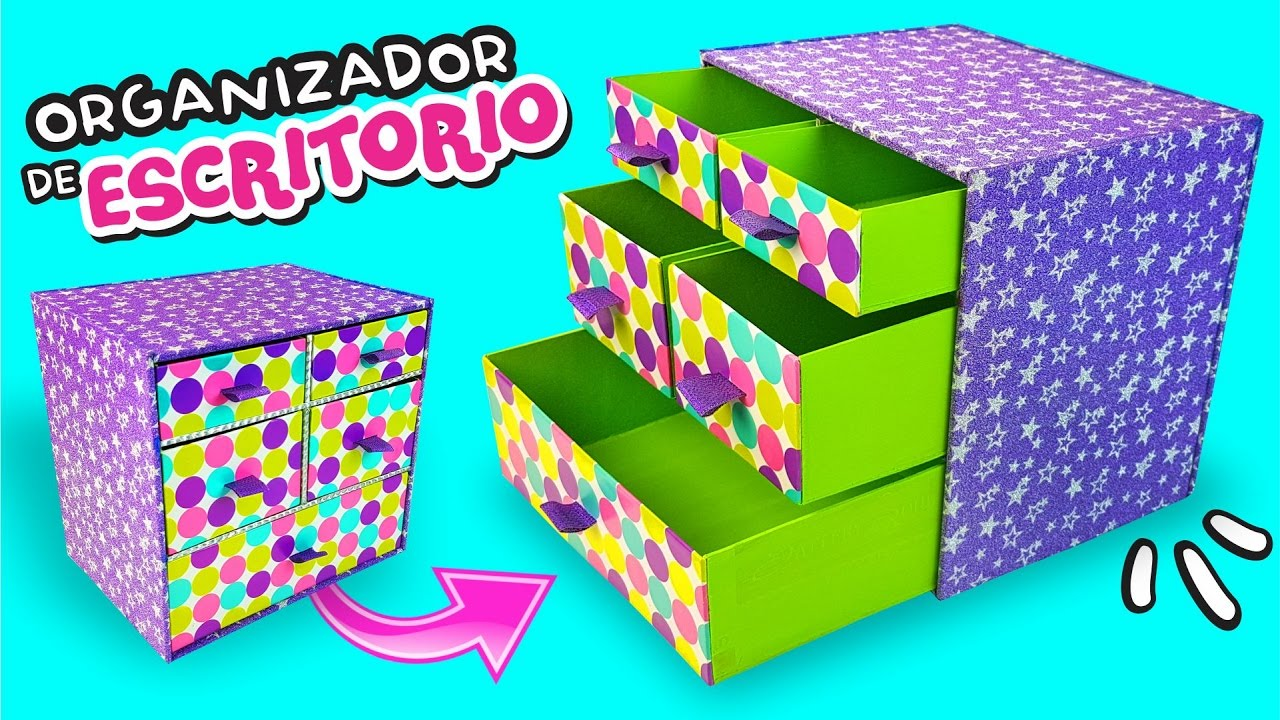 El mejor organizador para escritorio de youtube diy as o m s f cil youtube - Organizador de escritorio ...