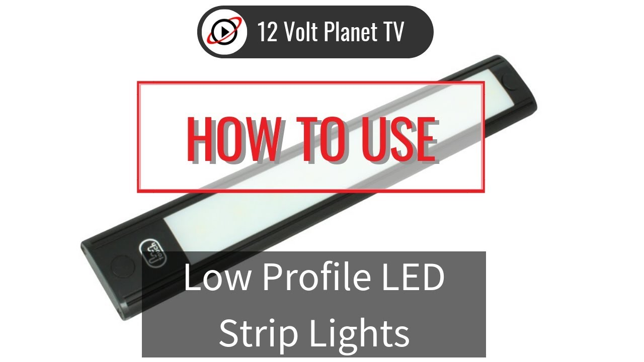 wiring up low profile led strip lights 12 volt planet [ 1280 x 720 Pixel ]