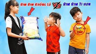 Người Chị Thiên Vị - Em Cũng Thích Ăn Bim Bim Khổng Lồ ♥ Min Min TV Minh Khoa