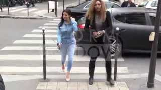 Kim Kardashian and pal Serena Williams having lunch at l'Avenue in Paris