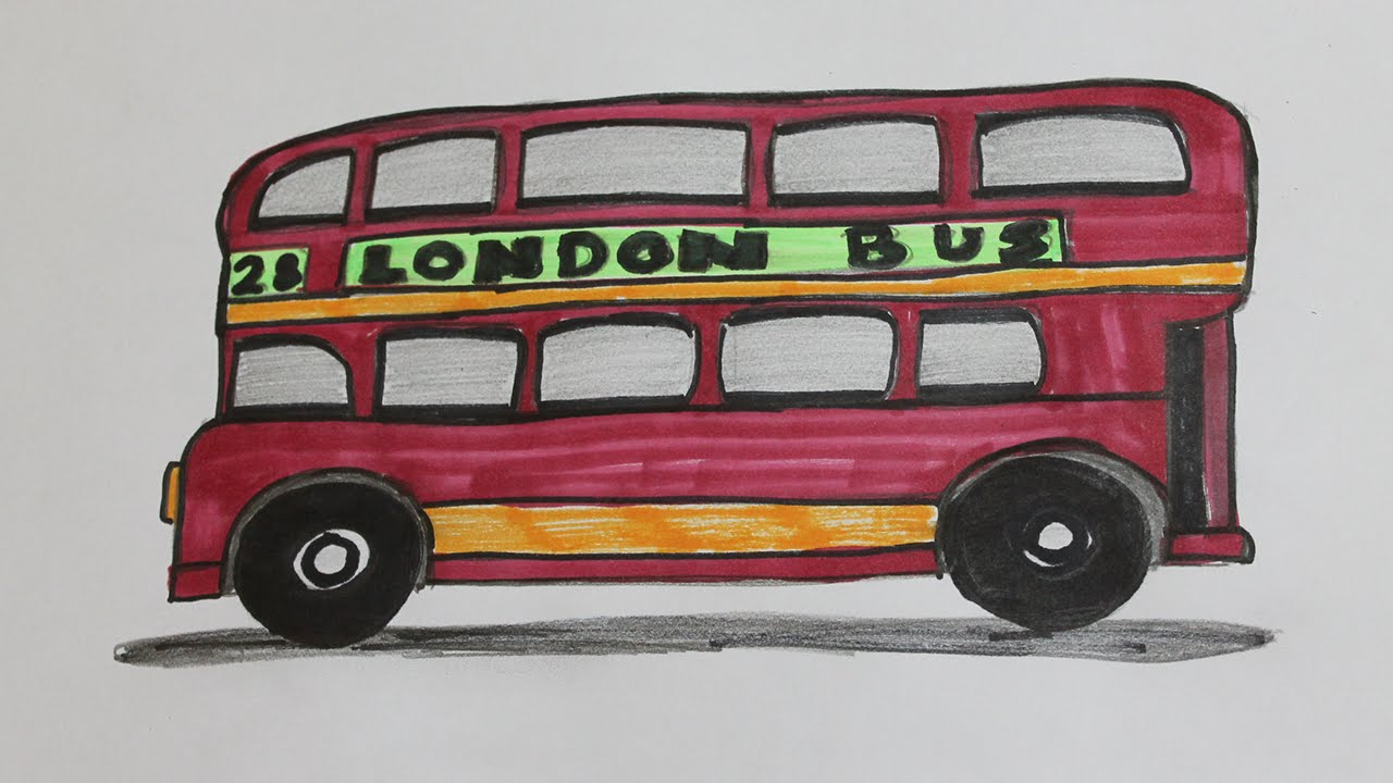 How To Draw A London Bus