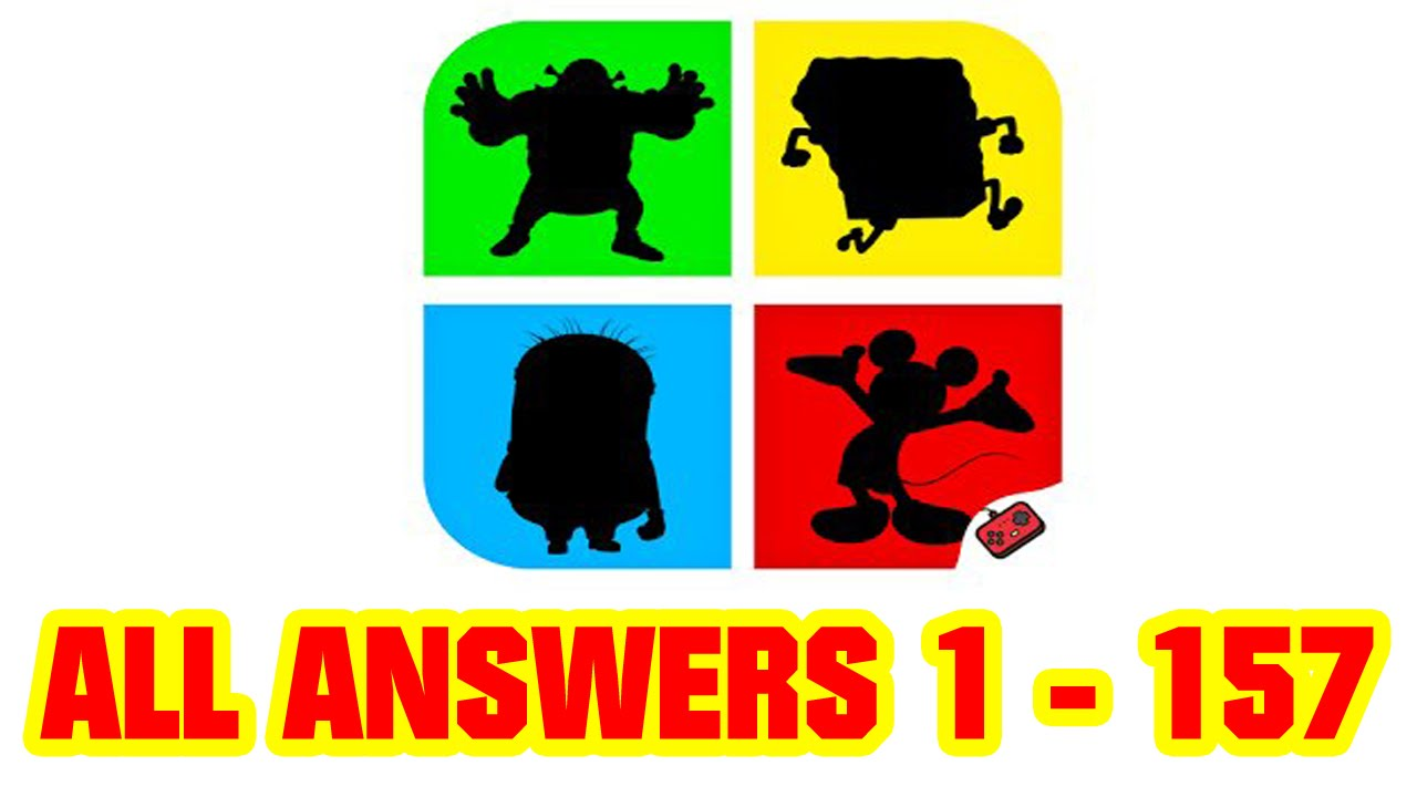 Cartoon Characters Quiz Questions And Answers : Shadow quiz game cartoons all level answers