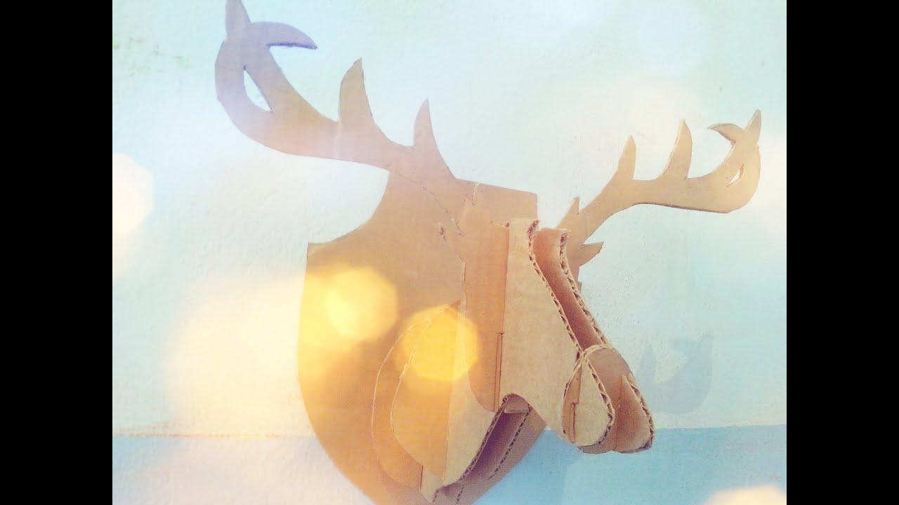 Decora tu habitación | DIY Cabeza de ciervo | #Blogarte - YouTube